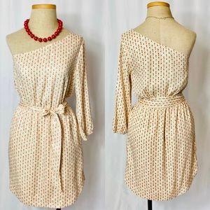 BCBG Asymmetric Blush, Geometric U-shaped Dress